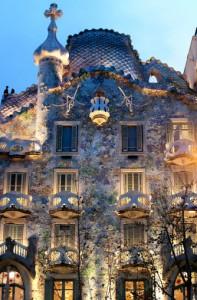 Casa Batllo, Gaudi Architecture, Eixample, Barcelona, Spain