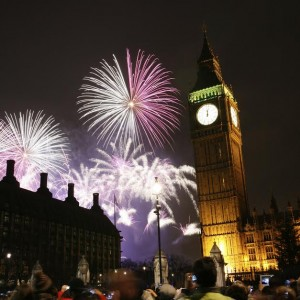 2013, Fireworks over Big Ben at midnight