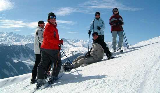 skiing-group