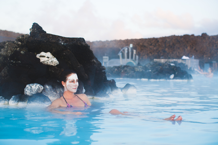 Relax In The Steaming Waters Of The Blue Lagoon In Iceland