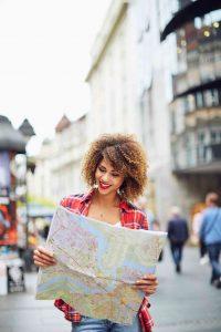 woman exploring in Paris