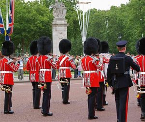 The Changing of the Guard, or the Guard Mounting, is a formal ceremony in which the New Guard publically takes over the responsibilities of the Old Guard.