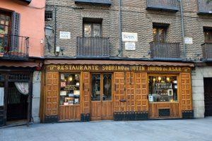 Sobrino de Botin was one of Hemingway's favorite restaurants, and it's mentioned often in his novels.