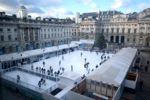 Go ice skating at Somerset House in London!