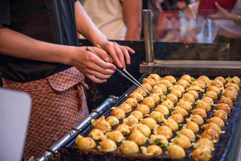 Takoyaki Stall in Osaka, Japan