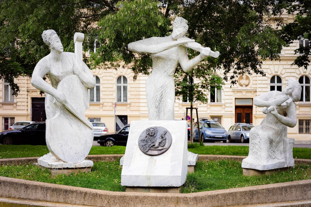 Vivaldi Monument in Vienna